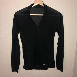 Patagonia Thin Black Quarter Zip Pullover Sz XS